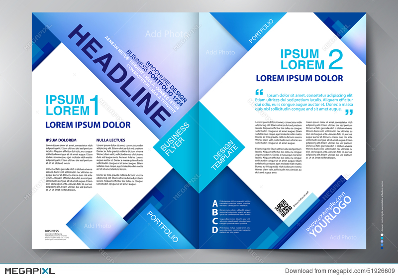 Brochure Design Two Pages A4 Template Illustration 51926609