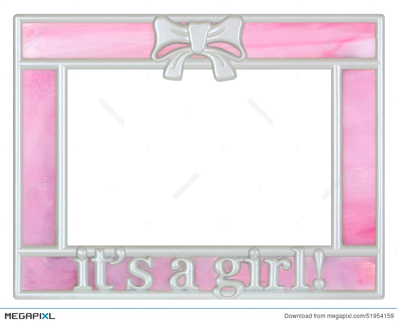 Pink Baby Girl Picture Frame Stock Photo 51954159 - Megapixl