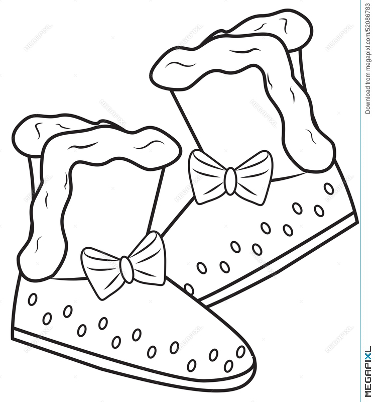 Girl S Boots Coloring Page Illustration 52086783 Megapixl