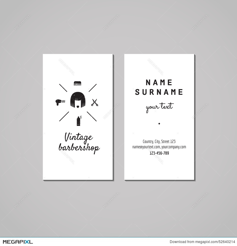 Barbershop Business Card Design Concept. Barbershop Logo With Bob ...