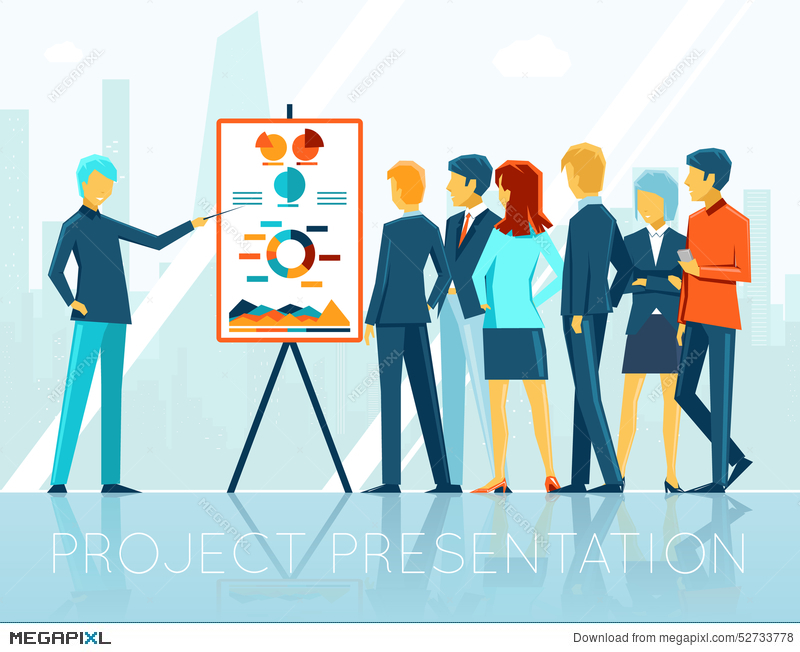 Business Meeting Project Presentation Illustration