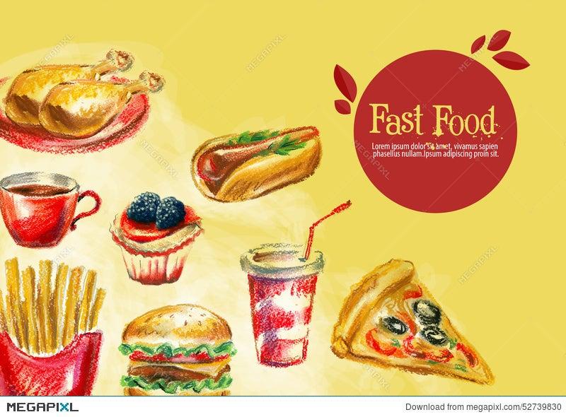 Fast Food Vector Logo Design Template Burger Illustration 52739830