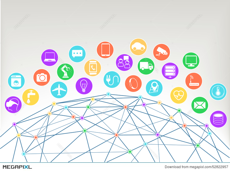 Internet Of Things Iot Illustration Background Icons Symbols