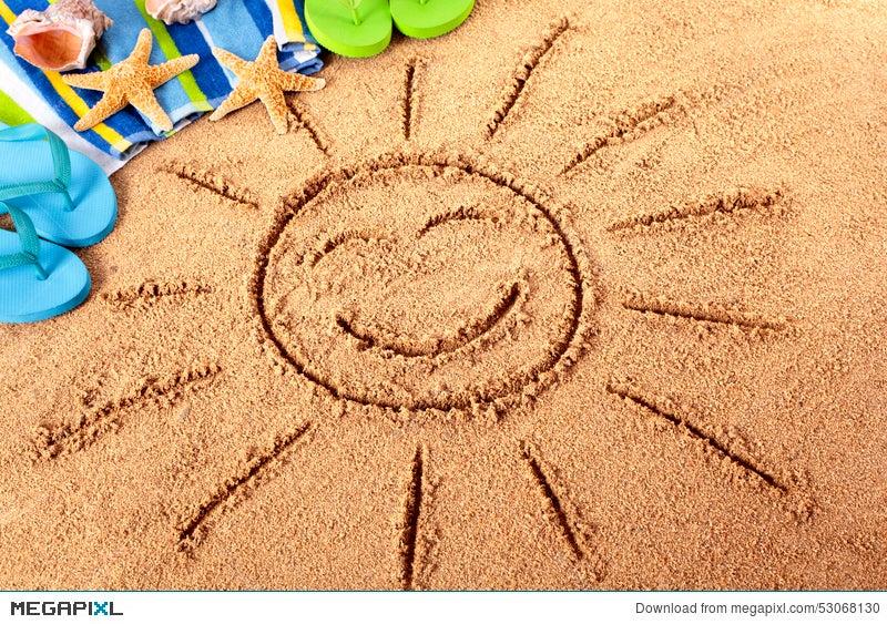 Summer Sun Beach Vacation Smiley Face Fun