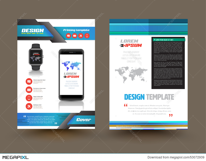 Vector Brochure Template Design For Technology Product - Infographic brochure template