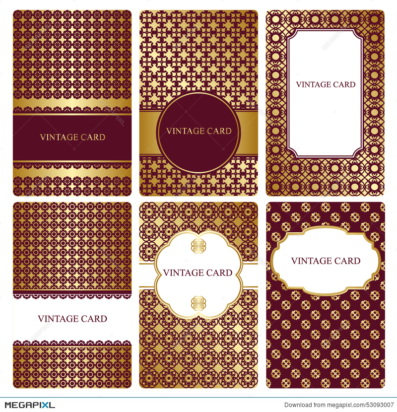 Set of gold business card templates illustration 53093007 megapixl set of gold business card templates reheart Gallery