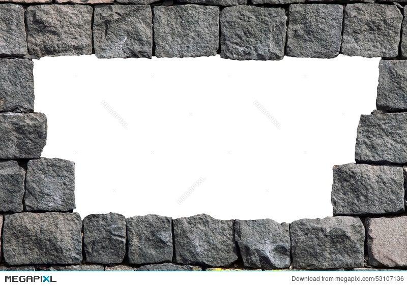 Stone Lava Wall Frame With Empty Hole Illustration 53107136 - Megapixl
