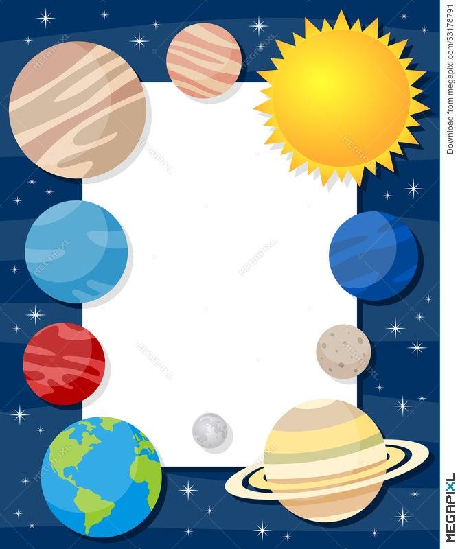 Solar System Planets Vertical Frame Illustration 53178791 - Megapixl
