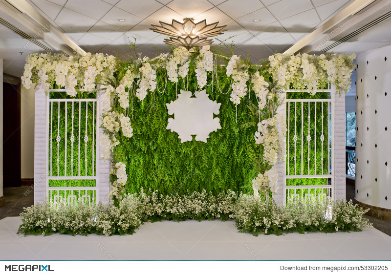 Luxury Indoors Wedding Backdrop Decoration