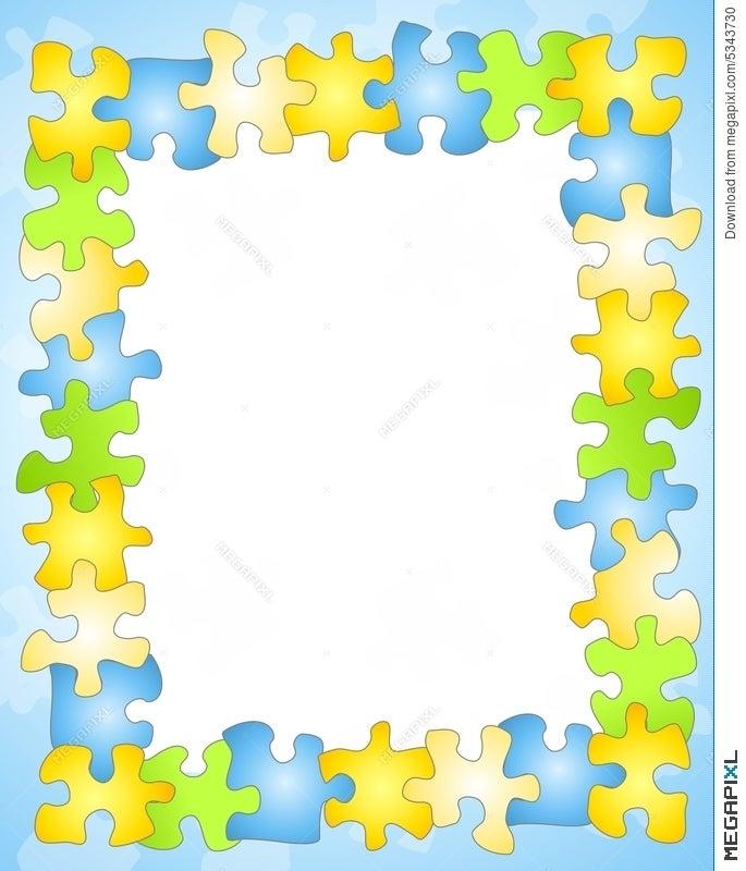 Puzzle Frame Border Background Illustration 5343730 - Megapixl