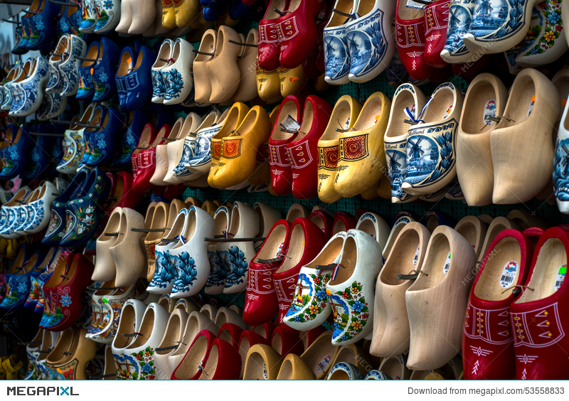 Wooden Shoes Or Clogs Klompen In Amsterdam The Netherlands Stock