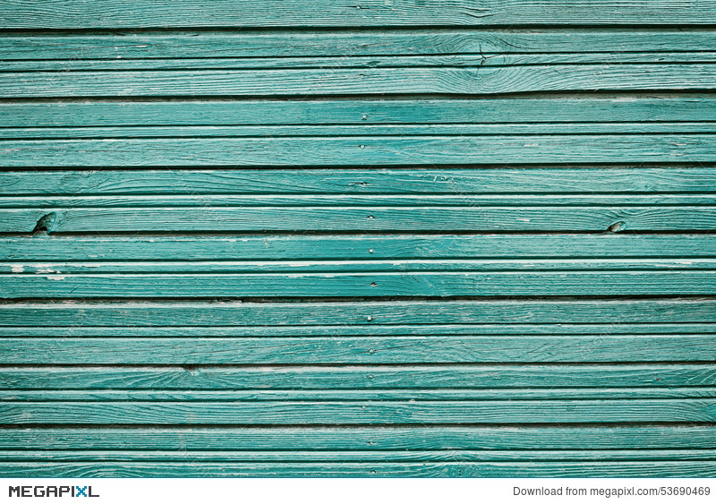 Old Vintage Wooden Planks With Blue Color Paint Rustic Wall Wood For Background