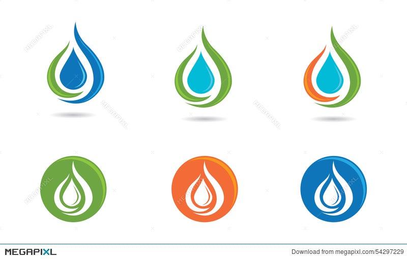 water drop logo illustration 54297229 megapixl