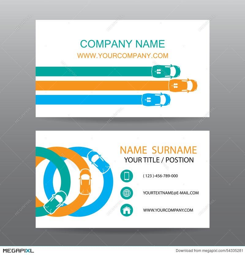 Business Card Vector Backgroundcar Salesman
