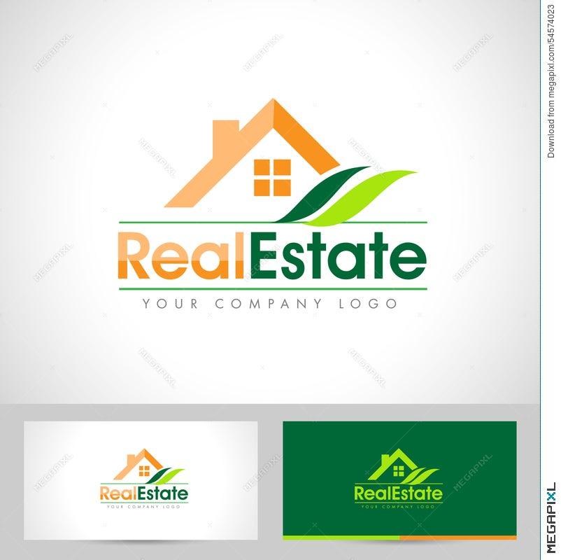 Real estate logo design illustration 54574023 megapixl real estate logo design reheart Choice Image
