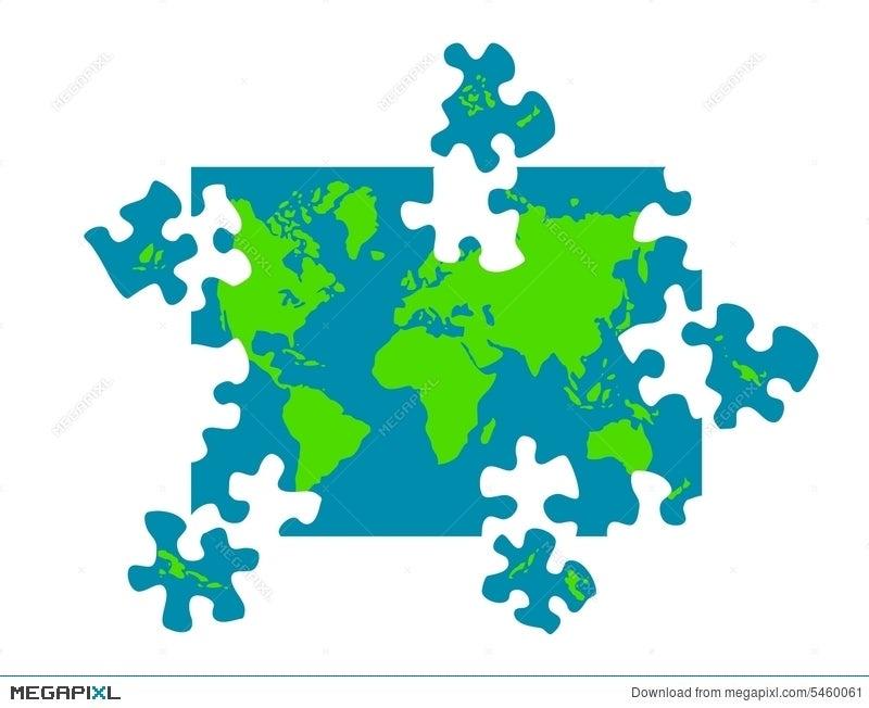 Map Of World Puzzle Pieces Illustration 5460061 - Megapixl