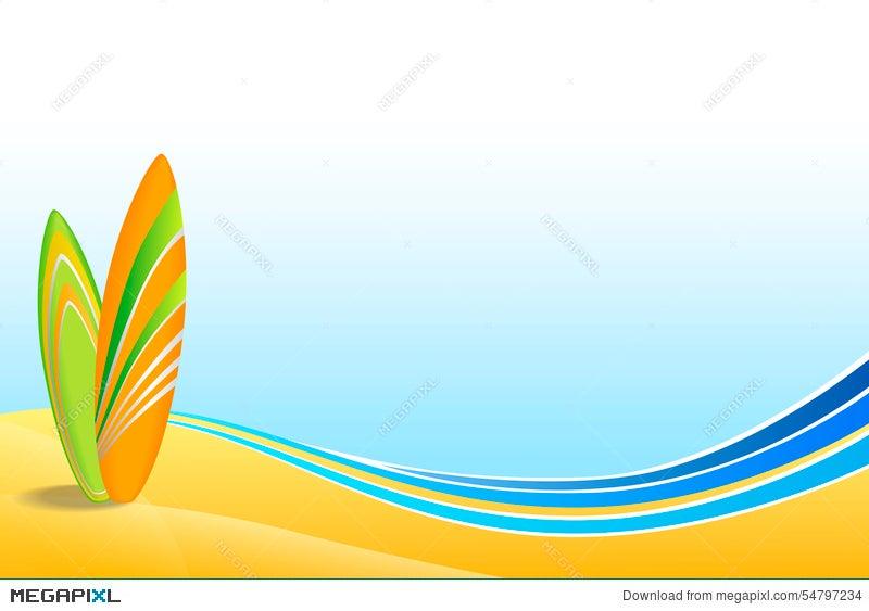 Abstract Background Sea Coast Holidays Design Orange Green