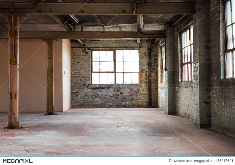 Empty Warehouse Office Or Commercial Area Industrial Background