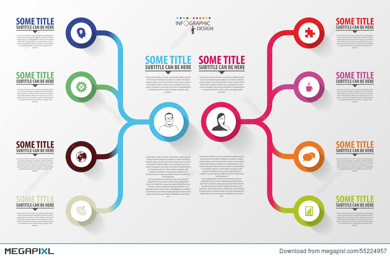 Modern Infographics Business Plan Design Template Vector - Business plan design template
