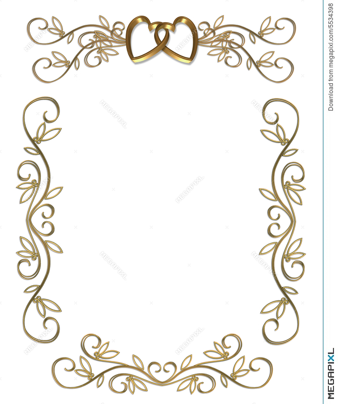Wedding or party invitation gold border illustration 5534398 wedding or party invitation gold border stopboris Gallery