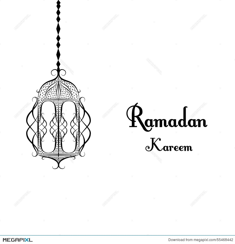 Black and white traditional lantern of ramadan ramadan kareem black and white traditional lantern of ramadan ramadan kareem beautiful greeting card with arabic calligraphy m4hsunfo