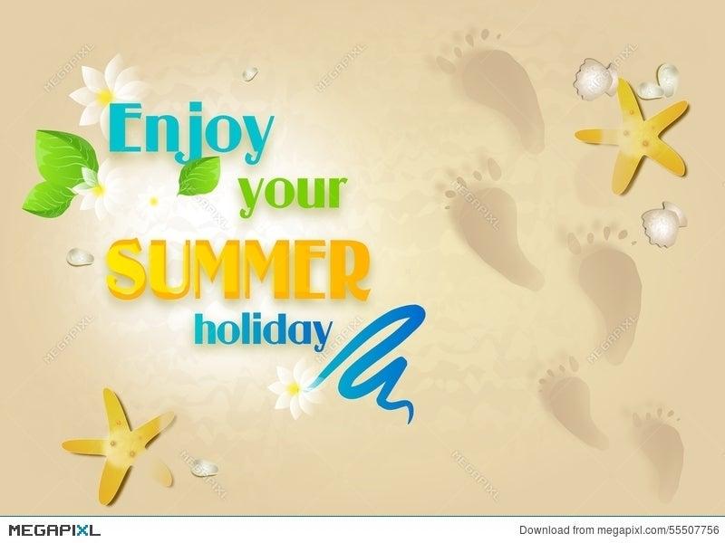 enjoy your summer holiday illustration 55507756 megapixl