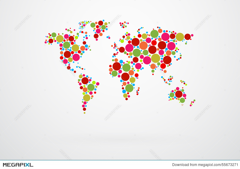 World map dots vector illustration 55673271 megapixl royalty free gumiabroncs Choice Image