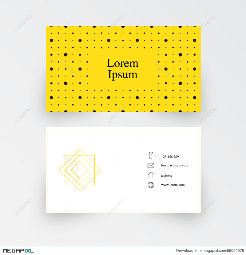 Modern simple business card template geometric pattern yellow modern simple business card template geometric pattern yellow background colourmoves