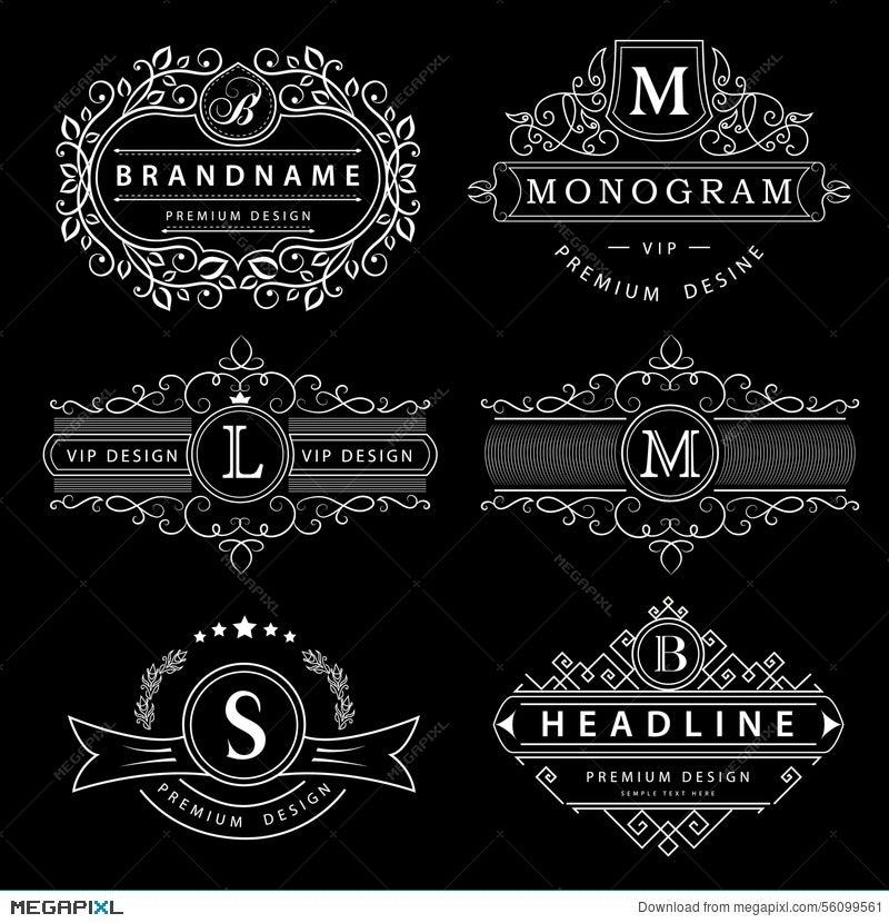 Monogram design elements graceful template elegant line art logo monogram design elements graceful template elegant line art logo design business sign flashek Image collections