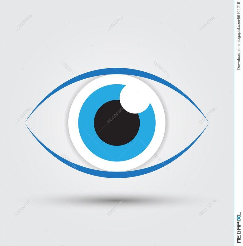 Blue Eye Icon Vector Illustration 56104218 Megapixl