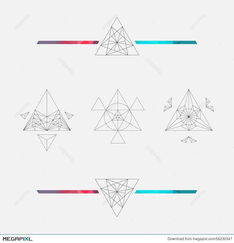 Triangle Background Vector Element Geometric Symbols Illustration