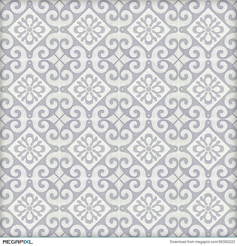 Old Ceramic Tiles Patterns Stock Photo 56382222 Megapixl