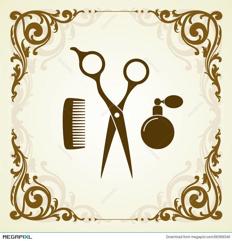 Beauty Salon Symbol With Scissor Illustration 56389346 Megapixl