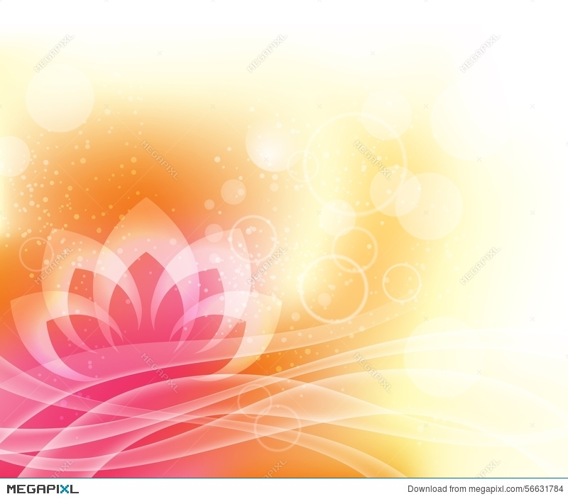 Lotus Yoga Background Illustration 56631784 Megapixl