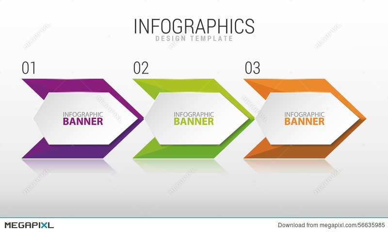 modern infographic design template three steps vector illustration