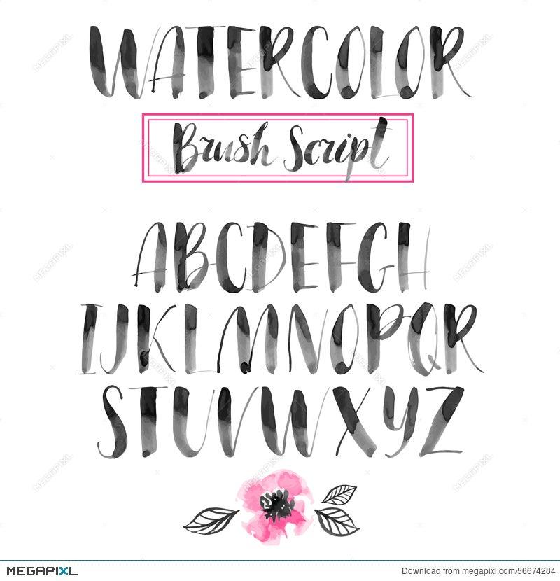 Handwritten Watercolor Calligraphic Font Modern Brush Lettering