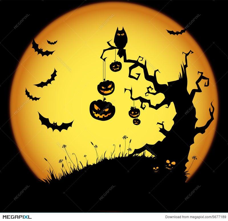Halloween Scene Illustration 5677189 - Megapixl