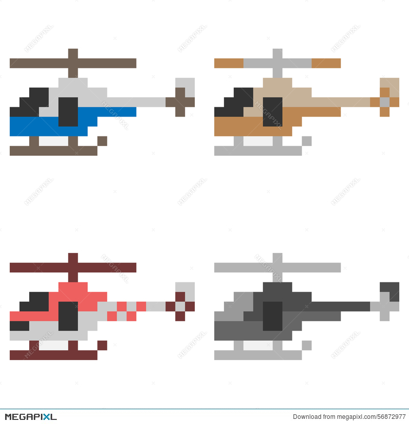 Illustration Pixel Art Helicopter Illustration 56872977