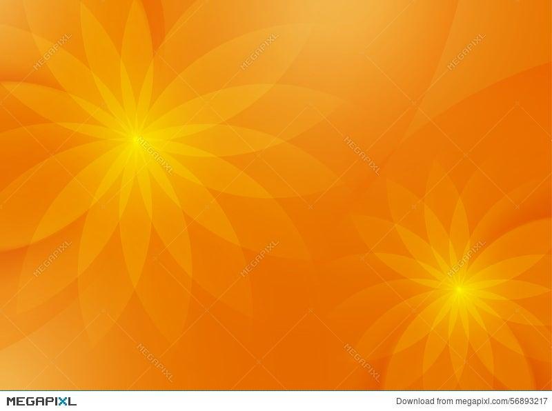 Abstract Floral Orange Background For Design Illustration 56893217