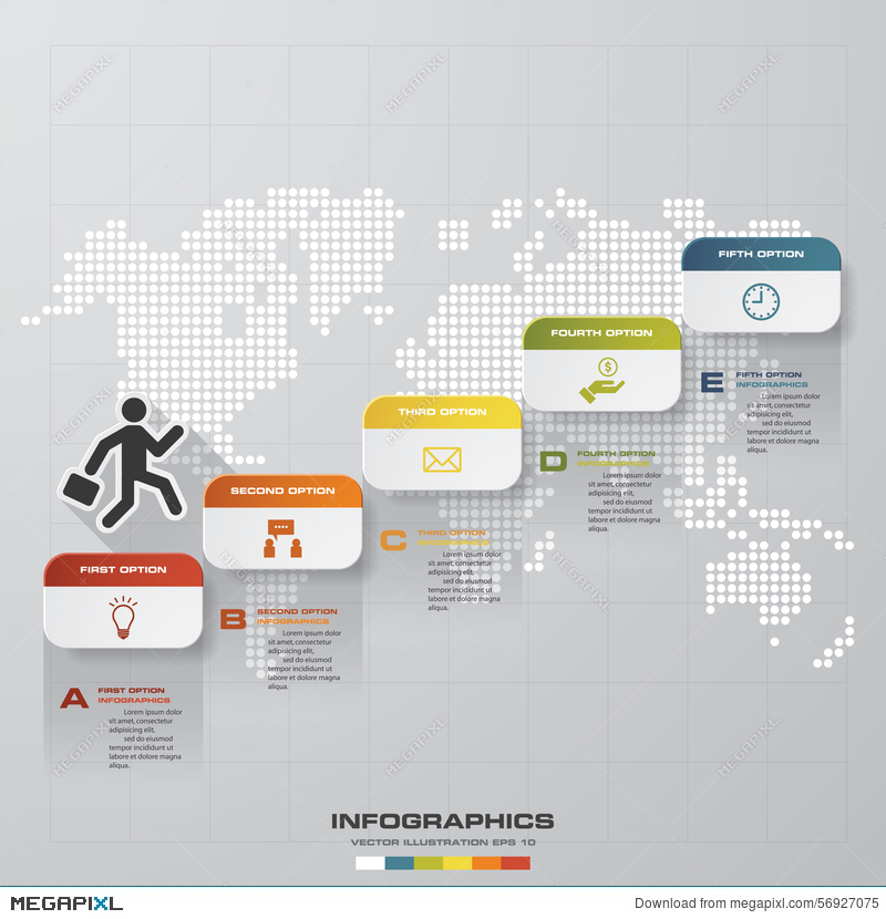 Abstract business chart 5 steps diagram templategraphic or website abstract business chart 5 steps diagram templategraphic or website layout vector ccuart Choice Image