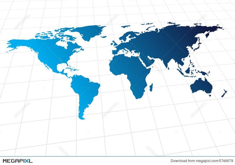 Modern global world map illustration 5746679 megapixl modern global world map gumiabroncs Image collections