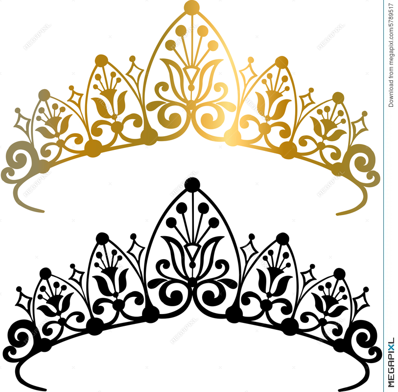 tiara crown vector illustration illustration 5789517 megapixl rh megapixl com tiara vector image tiara vector png