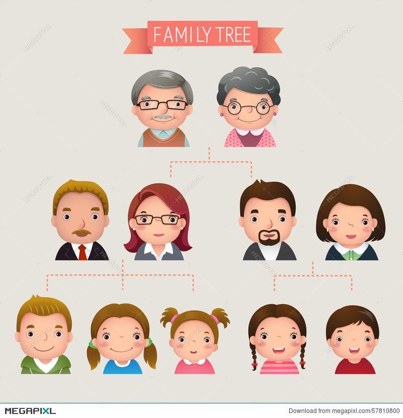 family tree illustration 57810800 megapixl