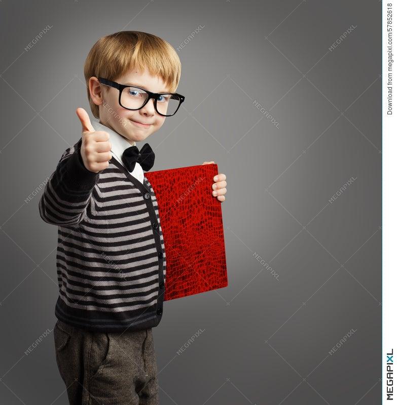 Kid In Glasses, Child Advertiser, Certificate Book, School