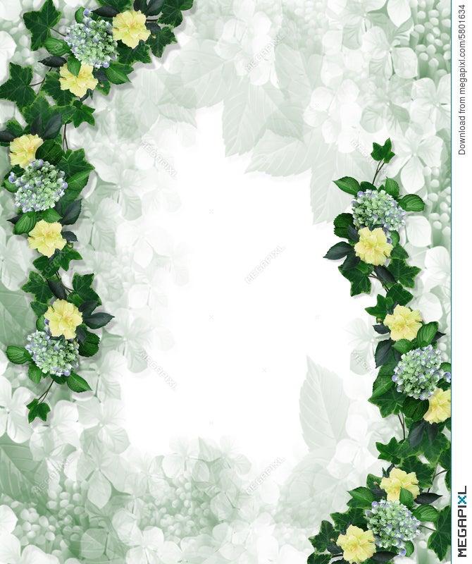 Floral Border Design Invitation Element Illustration 5801634 - Megapixl
