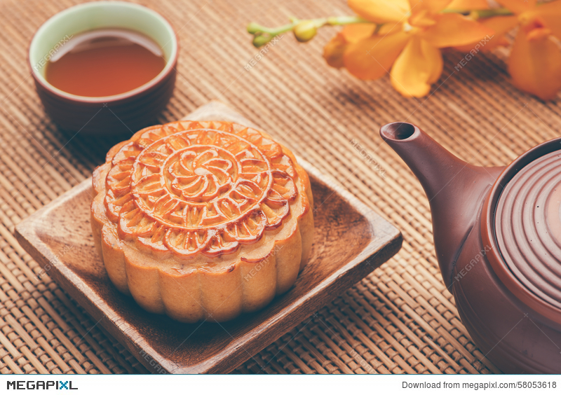Moon Cake Of Vietnamese Chinese Mid Autumn Festival Food