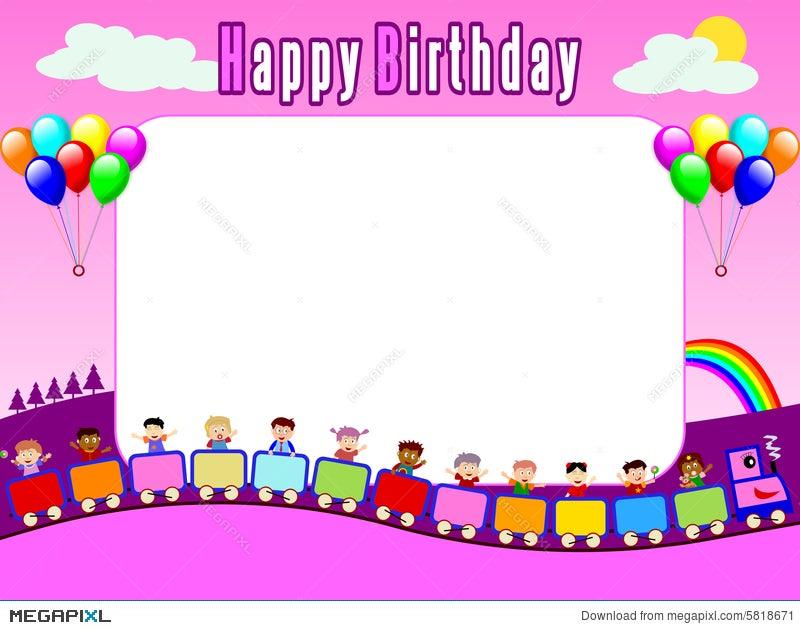 Photo Frame - Birthday [1] Illustration 5818671 - Megapixl