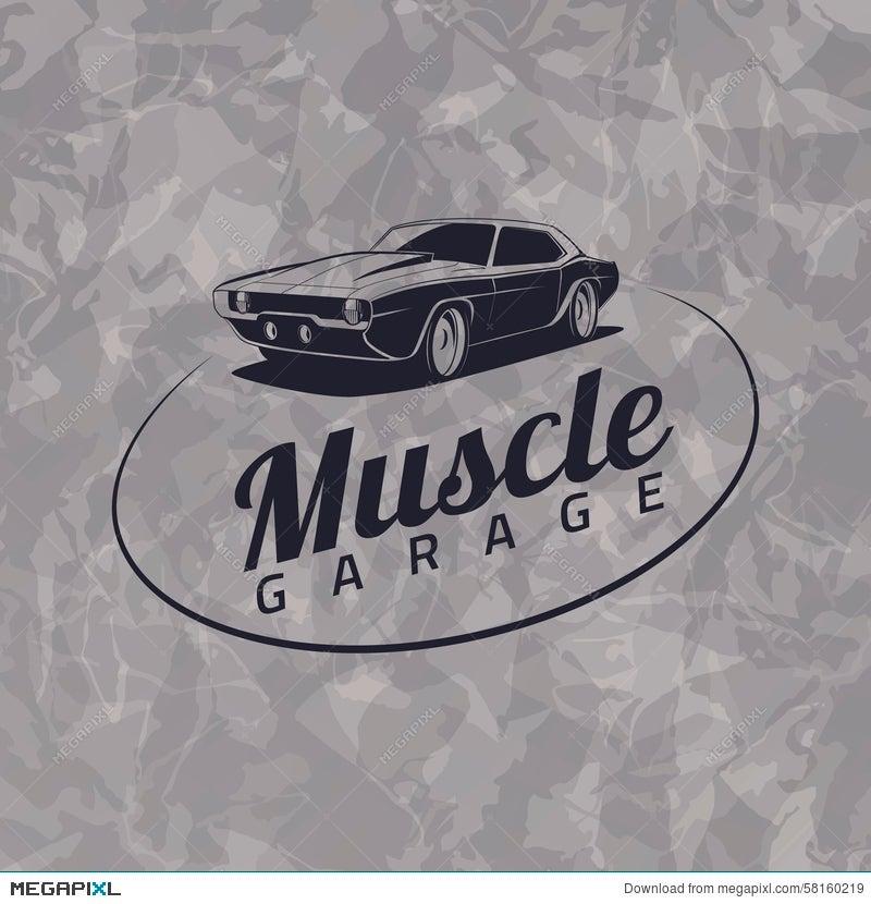 Muscle Car Logo Illustration 58160219 Megapixl