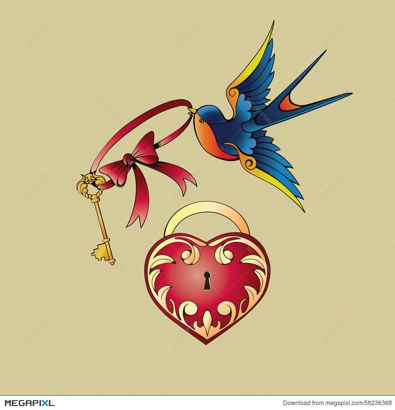 Old School Tattoo Symbols Illustration 58236368 Megapixl