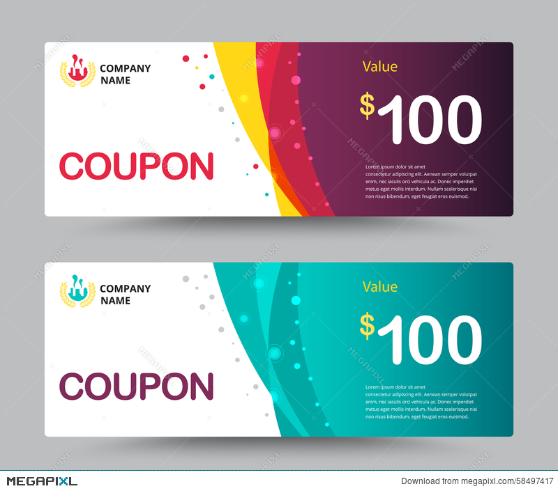 Gift Voucher Coupon Template Design. For Special Time, Coupon Temp  Free Voucher Design Template